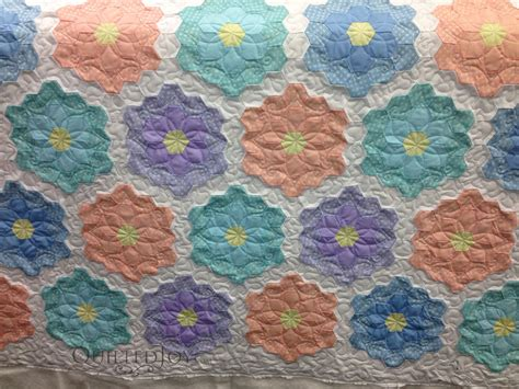 Grandmother S Flower Garden Quilt Pattern Grandmother S Flower Garden Quilt Makeover