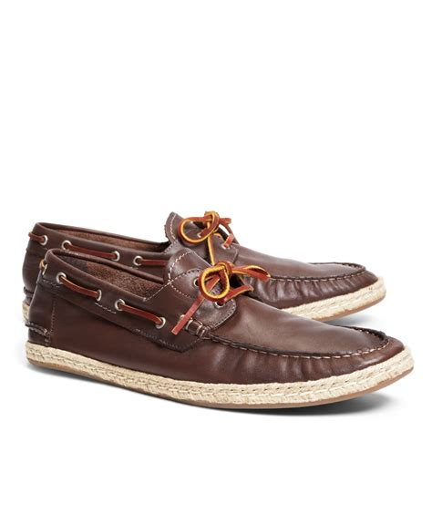 brothers shoes brothers espadrille boat shoe in brown for lyst