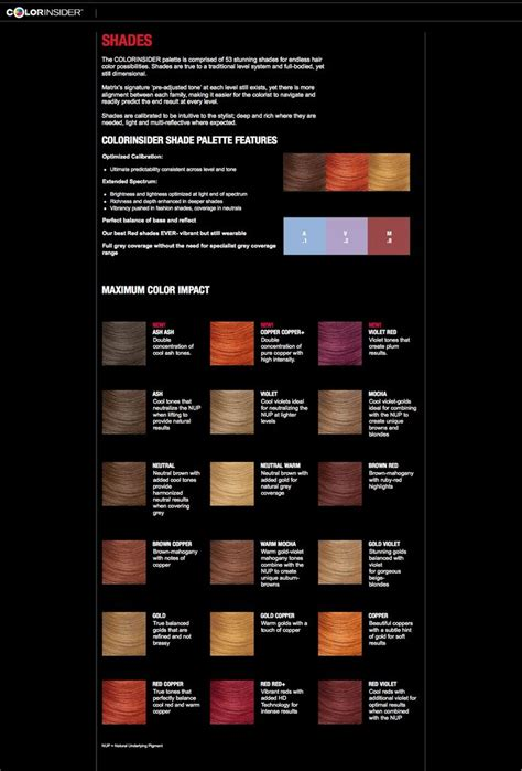 hair color theory 296 best color charts images on