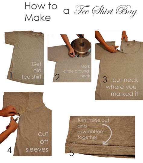 How To Make A T Shirt Out Of Paper - make a shopping bag out of a t shirt then take it once
