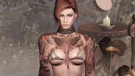 body tattoo mod skyrim suicide girl tattoos by dreivor prerelease at skyrim nexus
