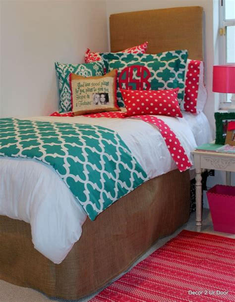 dorm room bed cute dorm bedding decor2urdoor college pinterest