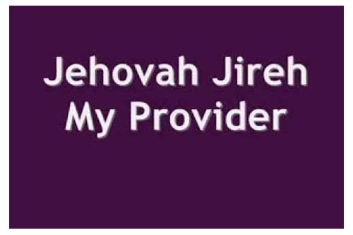 jehovah jireh my provider free mp3 download