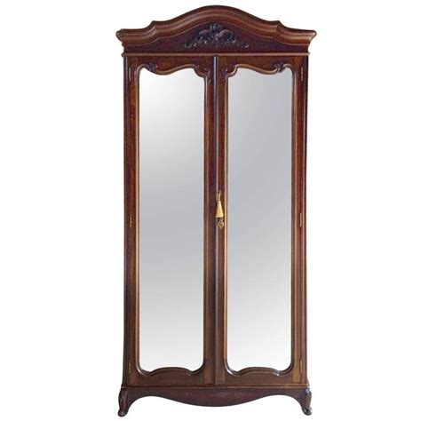 victorian armoire antique double wardrobe armoire two door mirrored walnut