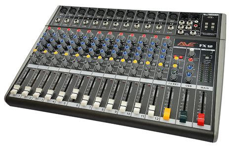 Mixer Ax 12 Usb12 Channel ave strike fx12 pa mixer with fx and usb 12 channel dj city