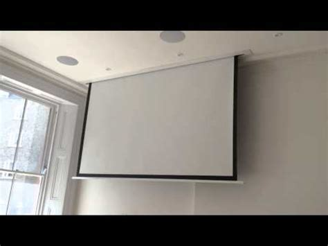 projector screen ceiling sapphire in ceiling projector screen in up market