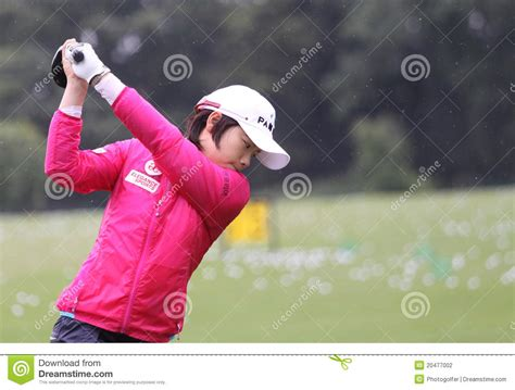 amy yang golf swing amy yang kor evian masters 2011 editorial photography