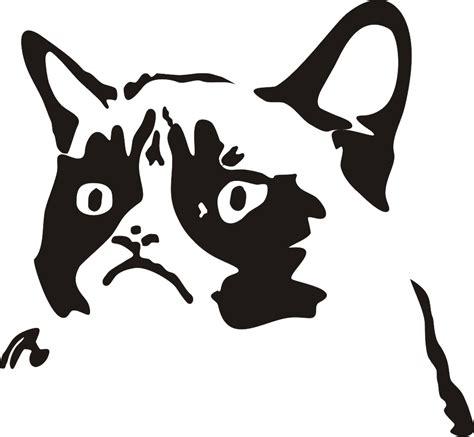 grumpy cat black and white tard the grumpy cat vectorized by drleprechaun on deviantart
