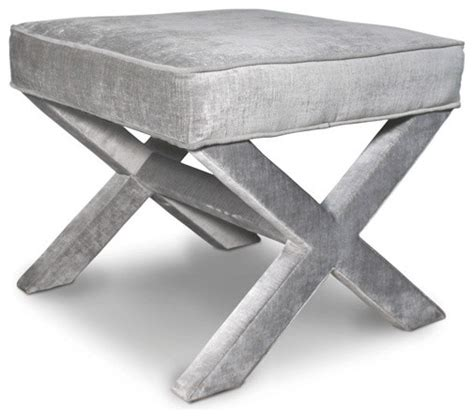 X Bench Ottoman X Bench Brussels Charcoal Traditional Footstools And Ottomans By Jonathan Adler