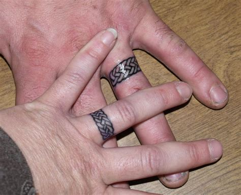 ring finger tattoos couples finger tattoos for couples