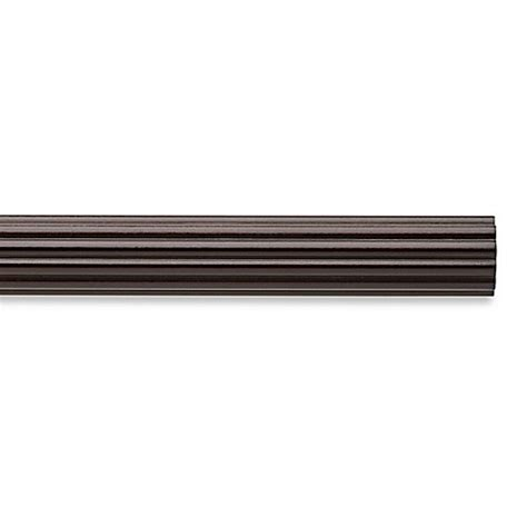 cambria wood curtain rods buy cambria chocolate 4 foot fluted wood pole decorative