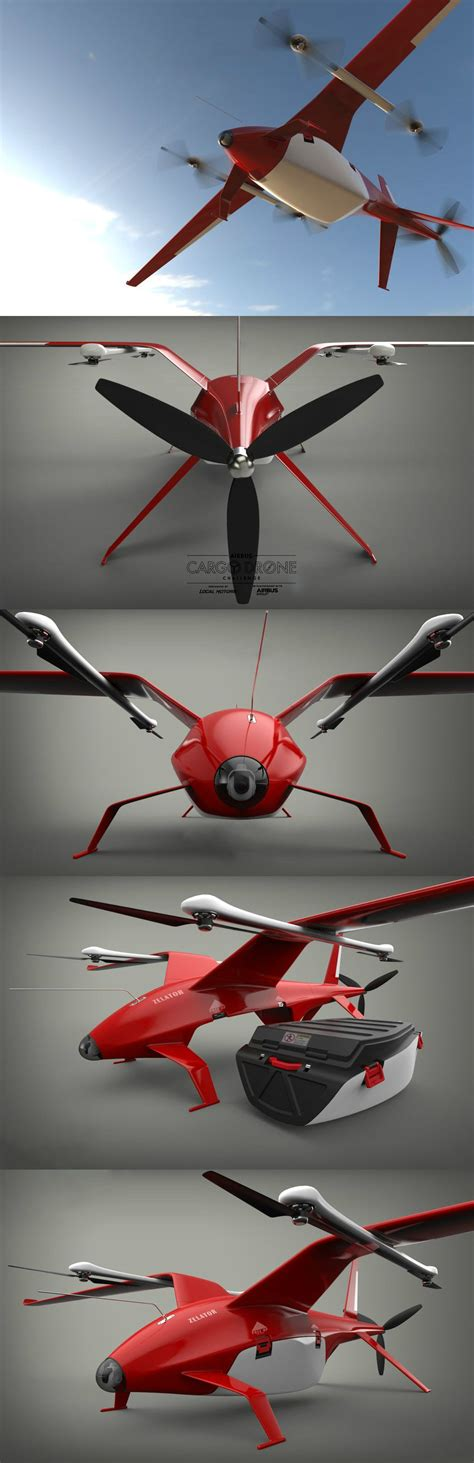 drone plane with the zelator 28 takes home place in the airbus cargo