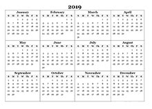 2019 calendar templates download 2019 monthly & yearly