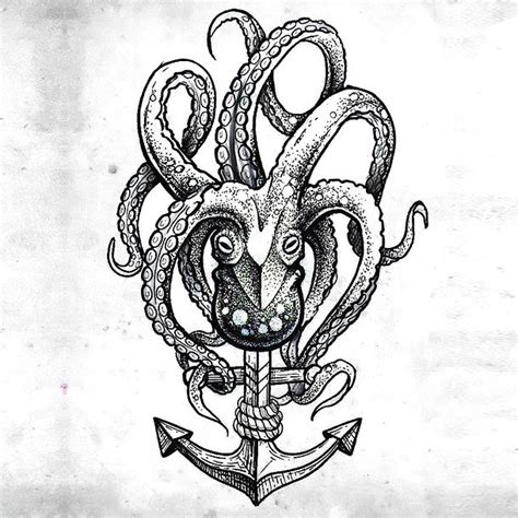 dotwork nautical tattoo design
