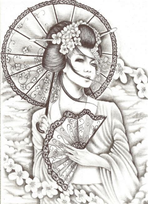 japanese geisha drawings geisha tattoos designs ideas and meaning tattoos for you