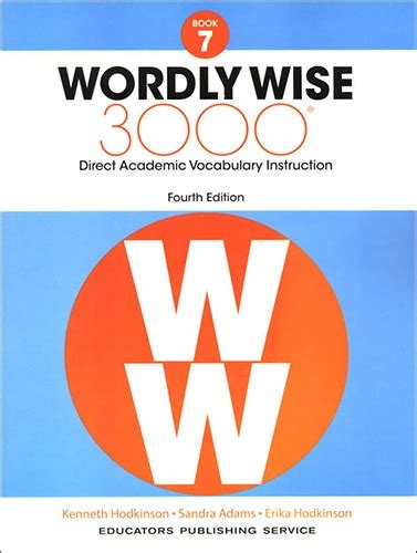 Wordly Wise 3000 Book 7 Workbook Only
