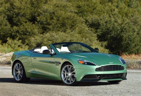 aston martin vanquish volante in envious green