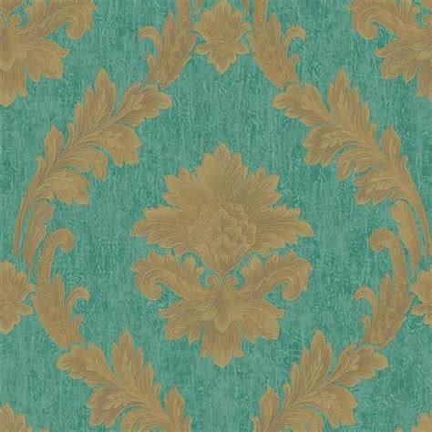 turquoise  gold damask wallpaper gallery