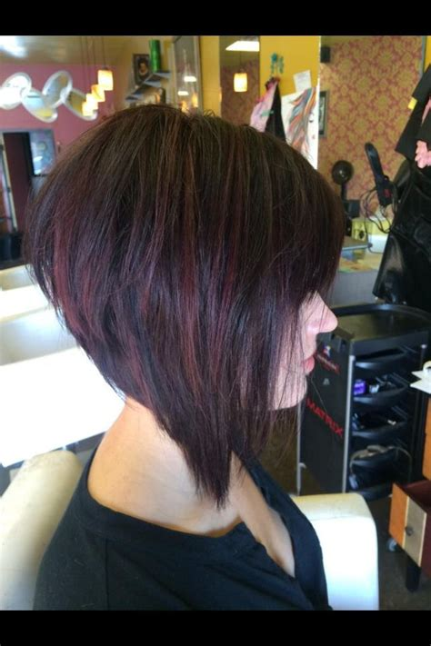 sexy bob haircut with chunky red highlites 383 best images about hairstyles to try on pinterest