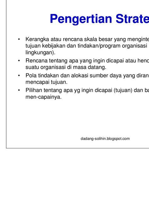 Manajemen Strategik 2 implementasi manajemen strategik di indonesia