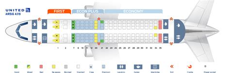 airbus a319 111 seating plan seat map airbus a319 100 united airlines best seats in plane