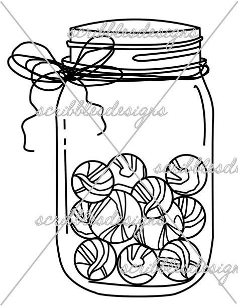 marble jar page coloring pages