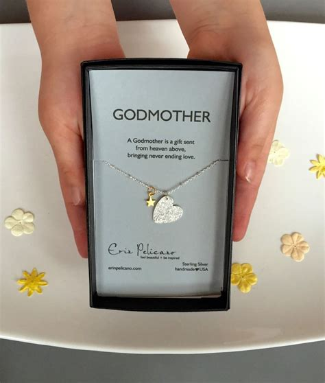7 Beautiful Christening Gifts by Godmother Necklace Will You Be My Godmother Gift Baptism