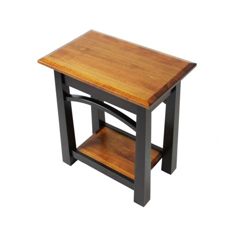 Solid Oak Dining Room Table by Madison Bow Small End Table Solid Maple End Table