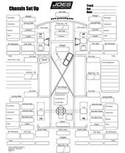 Race Car Setup Sheet Template by Stock Car Chassis Set Up Sheet Vintage Stock Car Racing