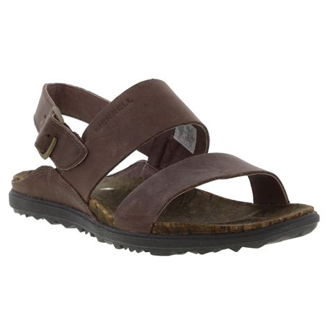 Merrell About Town Sandal by Merrell Around Town Backstrap Womens Brown Leather Sandals Size 3 8