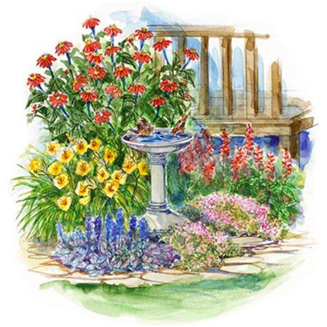 small space, drought resistant garden plan