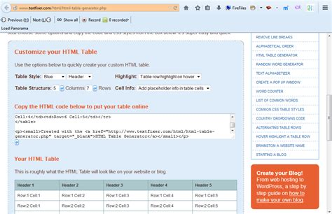 how to create table html how to easily create html tables tip dottech