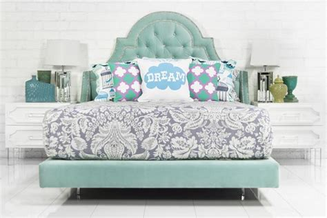 www roomservicestore bel air bed in aqua velvet