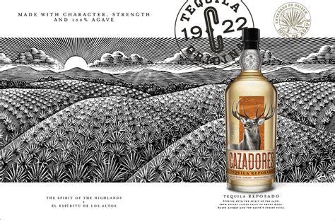 cazadores logo brand new new logo and packaging for cazadores by duffy
