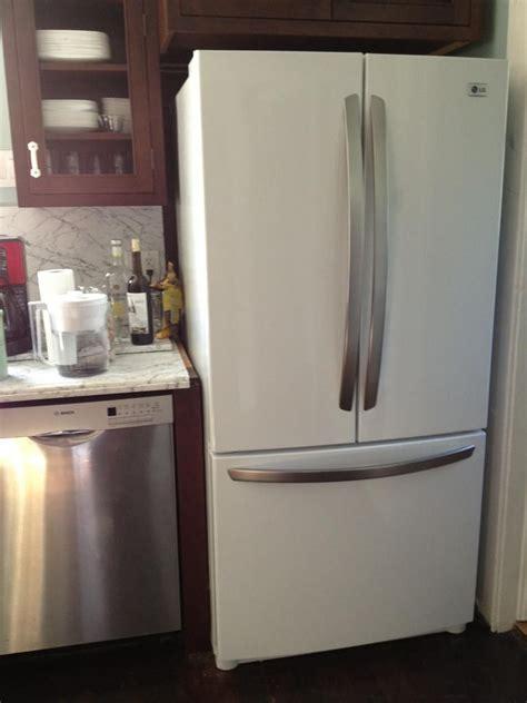 stainless steelwhite refrigerator