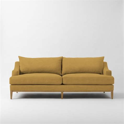 filled sofas montgomery filled sofa golden gate performance velvet contemporary sofas by west elm