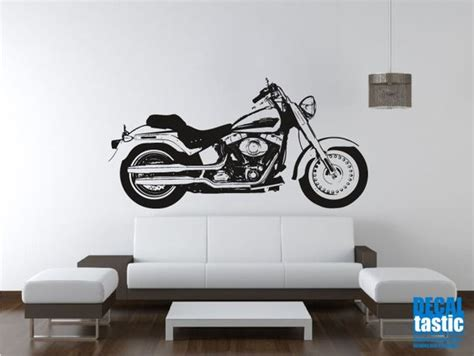 harley davidson wall stickers harley davidson fatboy motorcycle wall decal sticker garage ideas for tom