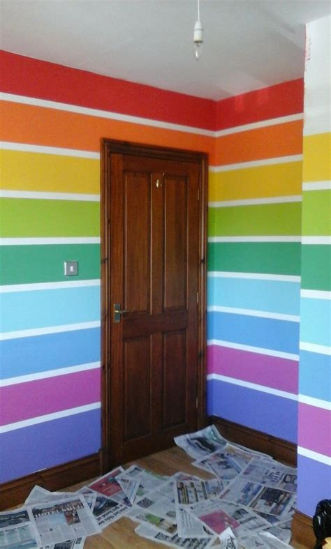 25 best ideas about rainbow wall on rainbow