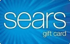 Sears E Gift Card - warning portals no longer paying for the purchase of