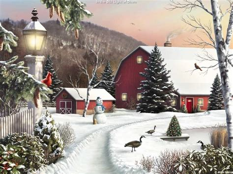 google images christmas scenes thomas kinkade winter wallpapers wallpaper cave