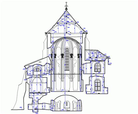 church section agm architectural and geodetic measure measured