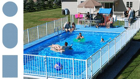 Backyard Landscape On A Budget Above Ground Pools Kayak Pools Midwest