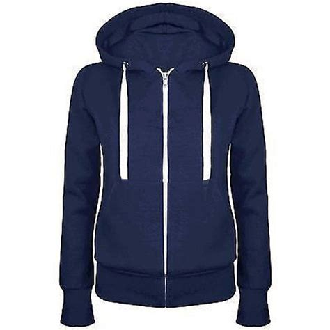 Jaket Zipper Hoodie Sweater Hardwell Navy unisex plain zip up hoody sweatshirt coat jacket top hoodies