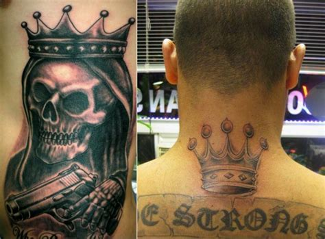 latin king tattoos five point crown el jefe 360