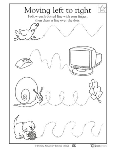 5 great writing worksheets kinder tracing a path