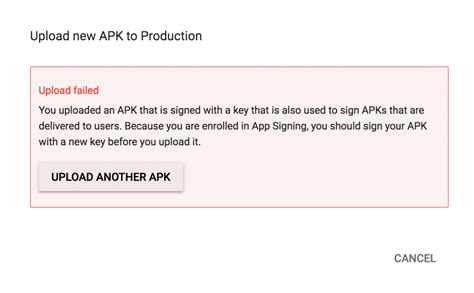blogger upload failed server rejected google play upload failed due to signing issue androapp