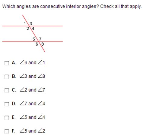 What Does Consecutive Interior by Which Angles Are Consecutive Interior Angles Che