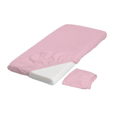 Fitted Sheets For Thin Mattresses by Len Crib Fitted Sheet Pink