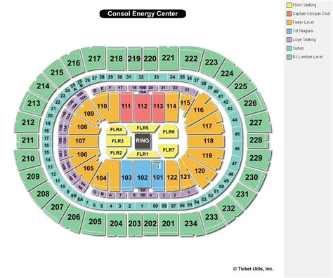 pittsburgh seating chart pittsburgh penguins seating chart consol energy center