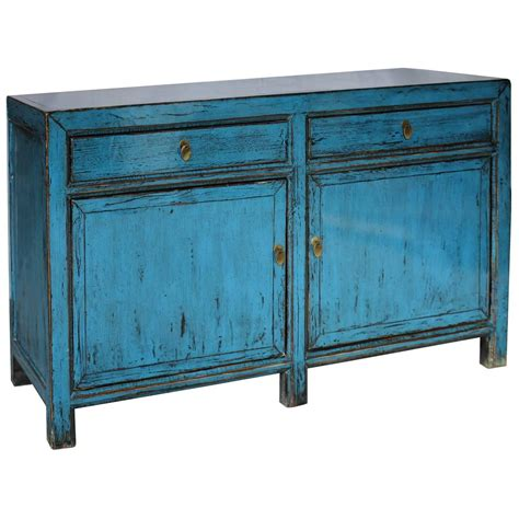 asian style sideboard blue patina 2 drawer blue sideboard for sale at 1stdibs